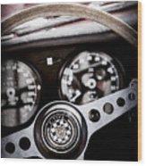 1966 Jaguar Xk-e Steering Wheel Emblem -2489ac Wood Print