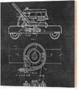 1966 Lawn Mower Patent Image Wood Print