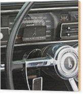1966 Plymouth Satellite Dash Wood Print