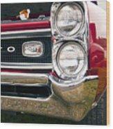 1966 Pontiac Gto Grill Wood Print