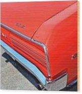 1966 Pontiac Gto Tail Lights And Logos Wood Print