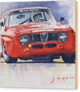 1967 Alfa Romeo Gta 1600 Groupe 5  Wood Print