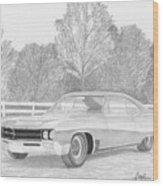1967 Buick Wildcat Classic Car Art Print Wood Print