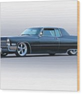1967 Cadillac Custom Coupe Deville Wood Print