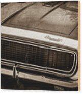 1967 Chevrolet Camaro Ss350 Convertible Grille Emblem -0704s Wood Print