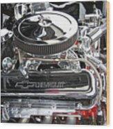 1967 Chevrolet Chevelle Ss Engine Wood Print