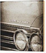 1967 Chevrolet Chevelle Ss Super Sport Emblem -0413s Wood Print