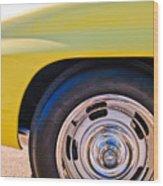 1967 Chevrolet Corvette Sport Coupe Rear Wheel Wood Print