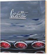 1967 Chevrolet Corvette Taillight 3 Wood Print