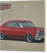 1967 Ford Fairlane Gt Wood Print