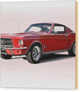 1967 Ford Mustang Fastback Wood Print