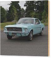 1967 Ford Mustang Watts Wood Print