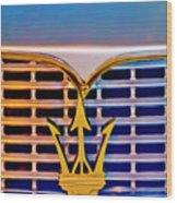 1967 Maserati Sebring Coupe Emblem Wood Print