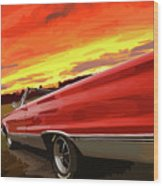 1967 Plymouth Satellite Convertible Wood Print