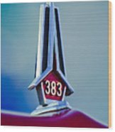 1967 Plymouth Saturn Hood Ornament Wood Print