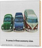 1967 Volkswagen Beetle Squareback And The Box Wood Print
