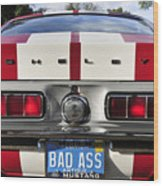 1968 Bad Ass Shelby Mustang Wood Print by David Lee Thompson