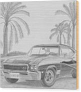 1968 Buick Skylark Gs Muscle Car Art Print Wood Print
