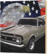 1968 Camaro Ss Tribute Wood Print