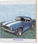 1968 Chevrolet Camaro Z 28 Wood Print