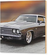 1968 Chevrolet Chevelle Ss L Wood Print