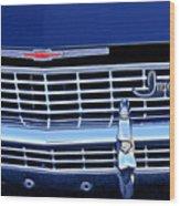 1968 Chevrolet Impala Ss Grille Emblem Wood Print