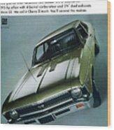 1968 Chevy Nova Ss Wood Print