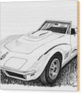 1968 Corvette Wood Print