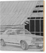 1968 Ford Fairlane Muscle Car Art Print Wood Print
