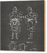 1968 Hard Space Suit Patent Artwork - Gray Wood Print by Nikki Marie Smith
