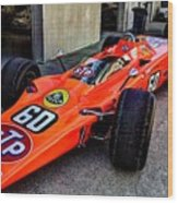 1968 Lotus 56 Turbine Indy Car #60 Angle Wood Print
