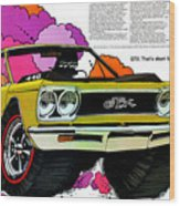 1968 Plymouth Gtx - Adios Wood Print