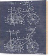 1968 Schwinn Stingray Patent In Blueprint Wood Print