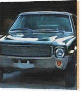 1969 Amx In Racing Green Wood Print