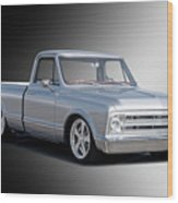 1969 Chevrolet C10 Pickup 'studio' 2 Wood Print
