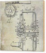 1969 Fly Reel Patent Wood Print