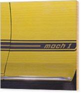 1969 Ford Mustang Mach 1 Logo Wood Print