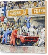 1969 Le Mans 24 Ferrari 312p Pedro Rodriguez  David Piper Wood Print