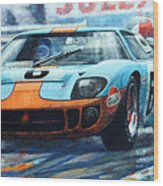 1969 Le Mans 24 Ford Gt 40 Ickx Oliver Winner  Wood Print
