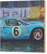 1969 Le Mans 24 Ford Gt40 Jacky Ickx Jackie Oliver Winner Wood Print