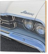1969 Mercury Montego Mx Grille With Headlights And Logos Wood Print
