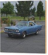 1969 Plymouth Roadrunner Green Wood Print