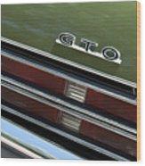 1969 Pontiac Gto Taillight Emblem Wood Print