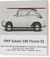 1969 Subaru 360 Young Ss - Creme Wood Print