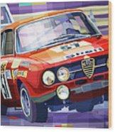 1970 Alfa Romeo Giulia Gt Wood Print