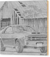 1970 Amx Javelin Muscle Car Art Print Wood Print
