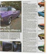 1970 Dodge Challenger Wood Print
