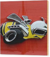 1970 Dodge Super Bee Emblem Wood Print
