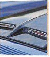 1970 Ford Mustang Gt Mach 1 Hood Wood Print