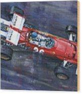 1970 Monaco Gp Ferrari 312 B Jacky Ickx  Wood Print